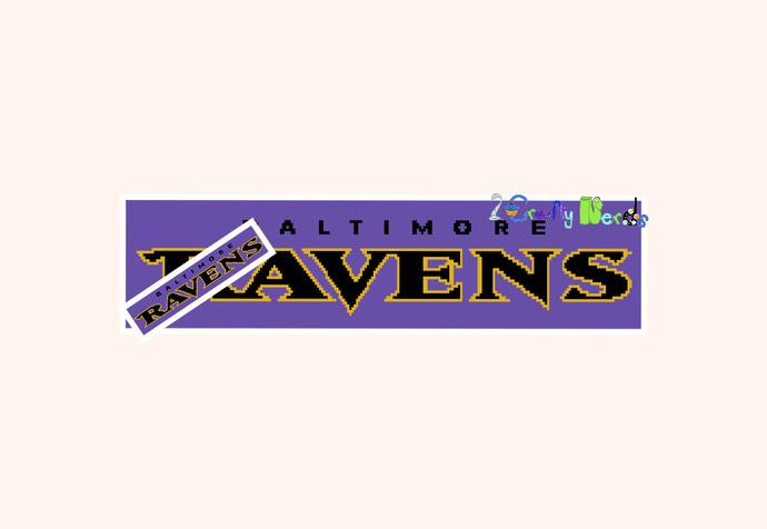 Baltimore Ravens Banner Pattern Graph With Half Double Crochet Written