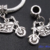 1 Charm Bracelet Bead Tibetan Silver 'Motorcycle' Fits European Charm Bracelets