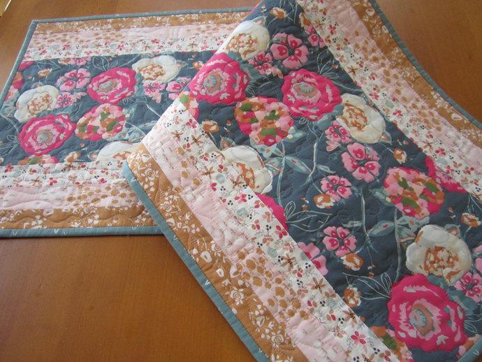 Spring Table Runner Quilted Handmade Runner Floral Home Decor Handmade Gift
