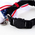 4th of July Cat Bow Tie Collar, Navy Blue, Red Stripes, Star Print, Adjustable,