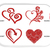Heart Love Valentine's Day Rose Machine Embroidery Design Set of 4