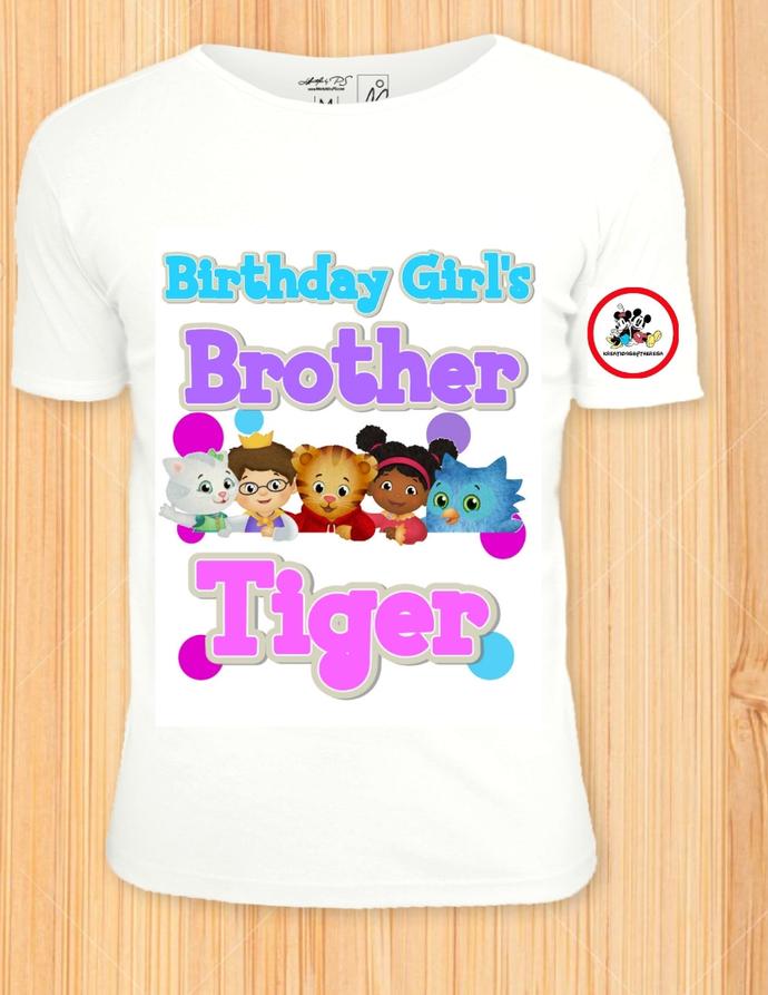 Daniel Tiger Brother Of The Birthday Girl/Birthday Shirts/Family Shirts/Iron On