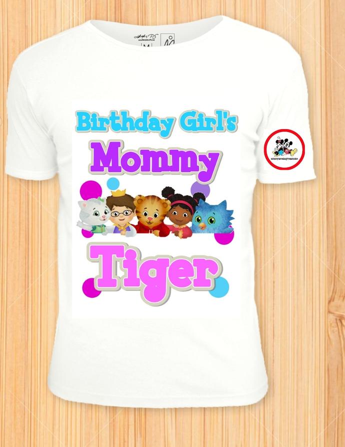 Daniel Tiger Mommy Of The Birthday Girl/Birthday Shirts/Family Shirts/Printable