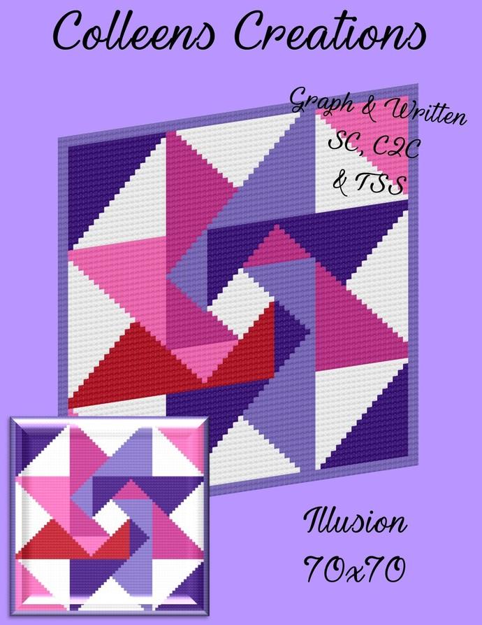 Illusion Crochet Written and Graph Design