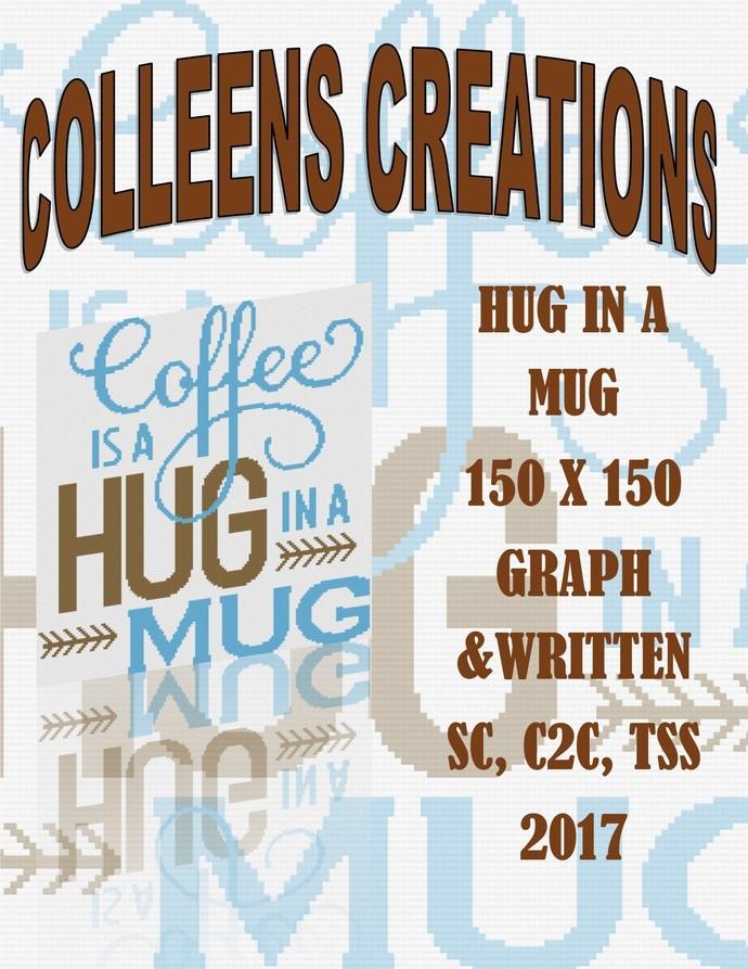 Hug In A Mug Crochet Written and Graph Design