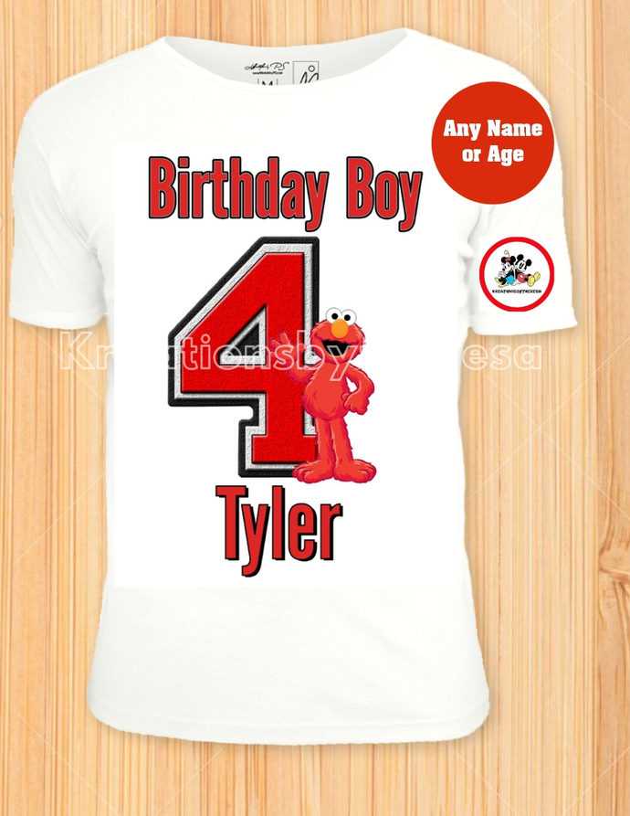 Elmo Sesame Street Birthday Shirt/Sesame Street iron On Transfer/Birthday