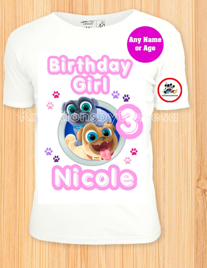 Puppy Pal Dogs Shirts Birthday Girl Iron On Transfer Family Personalized Any Name Or Age