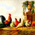 Chicken And Park Vase Cross Stitch Pattern - Instant Downloadable Digital