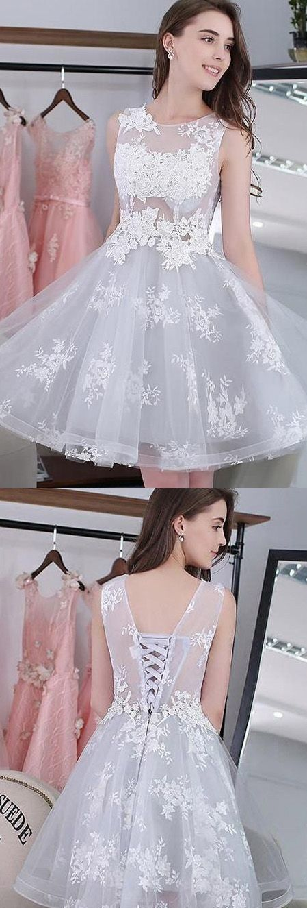 Lace Homecoming Dress with Lace Up,Sexy Cocktail Dress,Cheap Short Prom