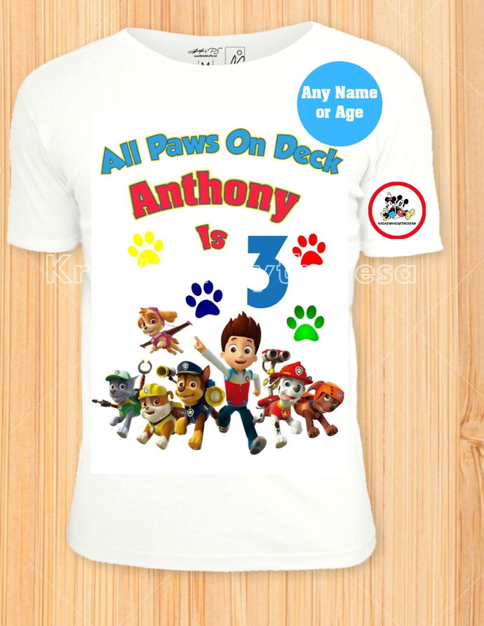 Paw Patrol Inspired All Paws On Deck Iron On Transfer/Printable
