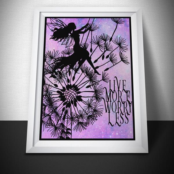 Live More Worry Less Art Print