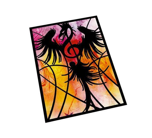 Musical Fire Phoenix Aceo Print