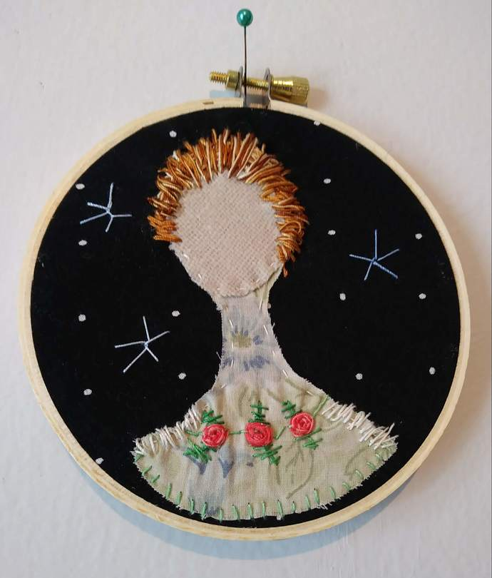 """Lady Embroidery Hoop 4"""""""