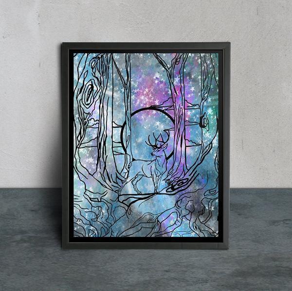 New Moon Handcut Papercut