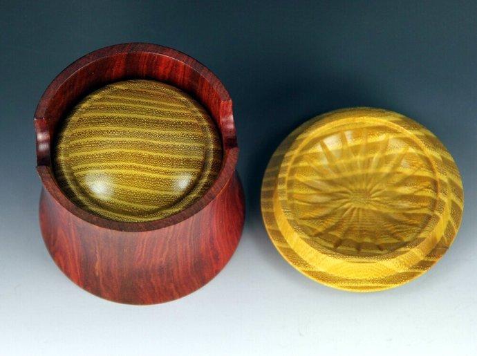 Handmade YoYo & Matching Box, Osage Orange & Redheart Wood