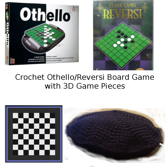 Crochet Othello - Reversi Board Game with 3D Game Pieces (TSS)