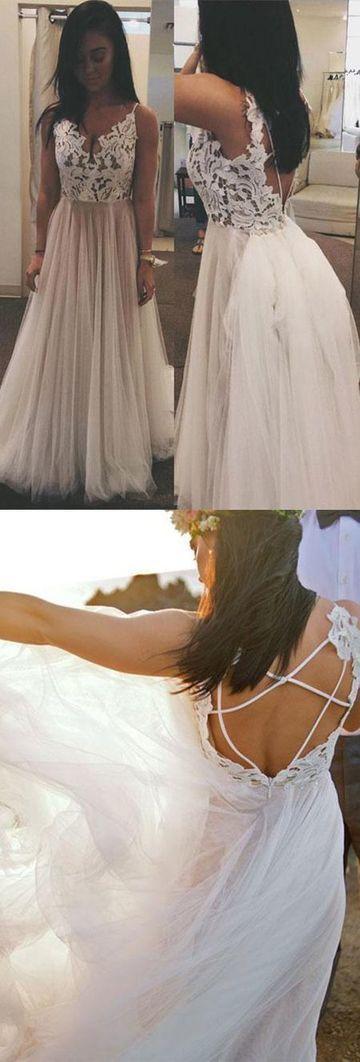 Sexy Spaghetti Straps A-Line Prom Dresses,Long Prom Dresses,Cheap Prom Dresses,