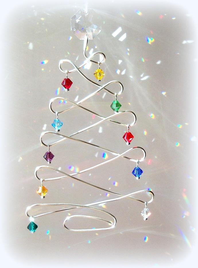 Sun Catcher Christmas Tree Fun