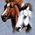 Wild Horses # 2 Cross Stitch Pattern***LOOK***  ***INSTANT DOWNLOAD***