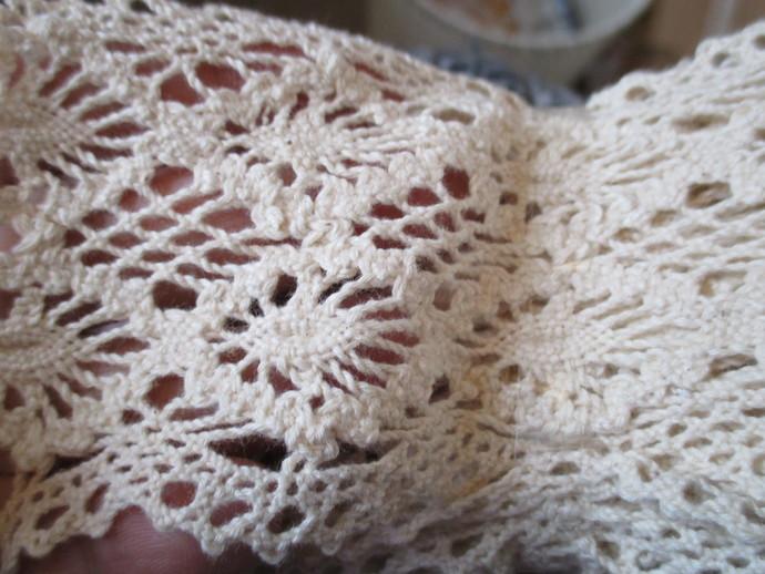 Approx 3yds of 7cm Wide Crochet Trim