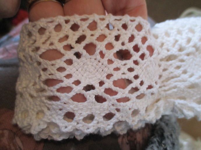 Approx 3yds of 7cm Wide Crochet Trim