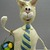 Easter Bunny, Papier Mache, Handmade One of a Kind, Spring Decoration or Gift,