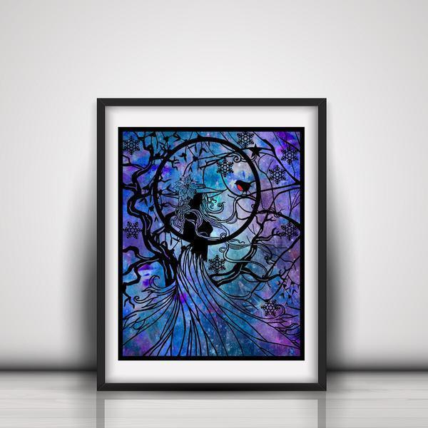 Winter Witch Art Print