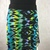 Water Colored Print Silky Jersey Knit Fabric Comfortable A-Line Skirt Skims over