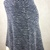 Slate Blue & Gray Skirt made from Stretchy Ponte Mid Weight Fabric with