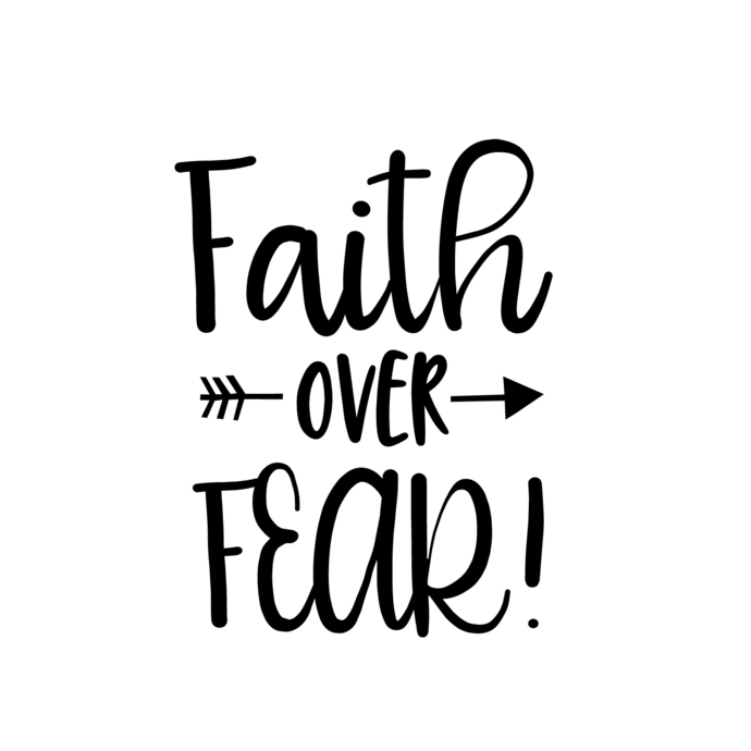 Faith Over Fear Graphics Svg Dxf Eps Png Cdr By Vectordesign On Zibbet