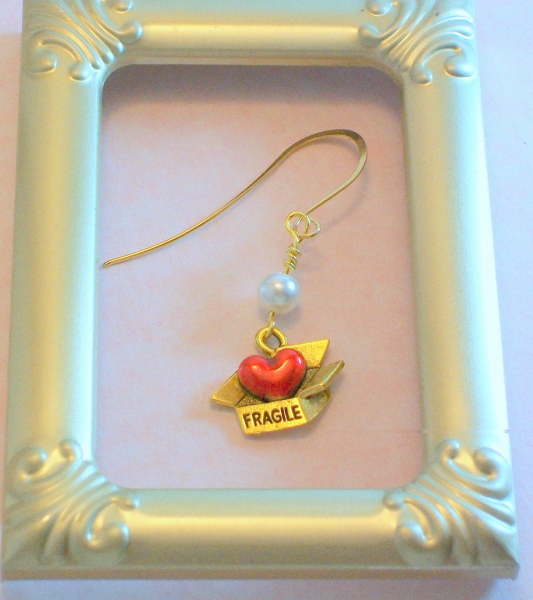 Gold Fragile Heart Earrings