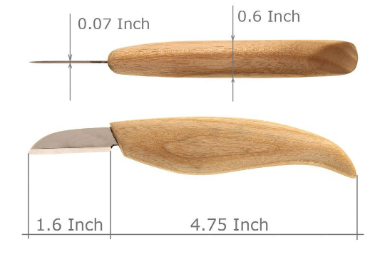 BeaverCraft, Cutting knife for fine chip carving wood and general purpose wood