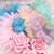 """Lace Ruffled Tulle Trim Pleated Shabby Chic - 1 5/8"""" White, Blue, Pink,"""