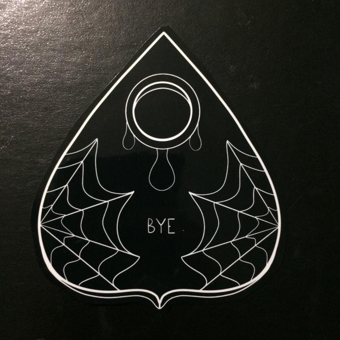 'Bye' Planchette Sticker