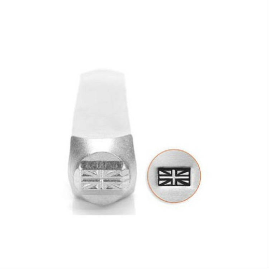 Brand New Stamp 6mm for Metal, Plastic, Clay, Jewelry Blanks UNION JACK Design