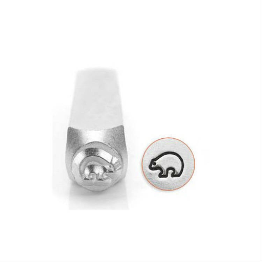 Brand New Stamp 6mm for Metal, Plastic, Clay, Jewelry Blanks Bear Design