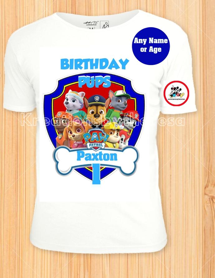 Paw Patrol Birthday Shield