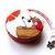 Tape Measure Cartoon Hedgehogs and Flowers Retractable Measuring Tape