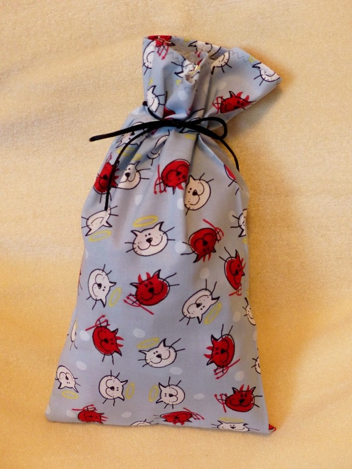 Fabric gift bag, Cat themed gift bags, Party bags, Recyclable bags, Eco-friendly