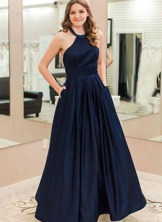 Halter Neckline Prom Dresses