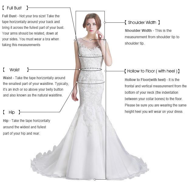 A-Line V-Neck Backless Blue Beaded Long Prom Dress