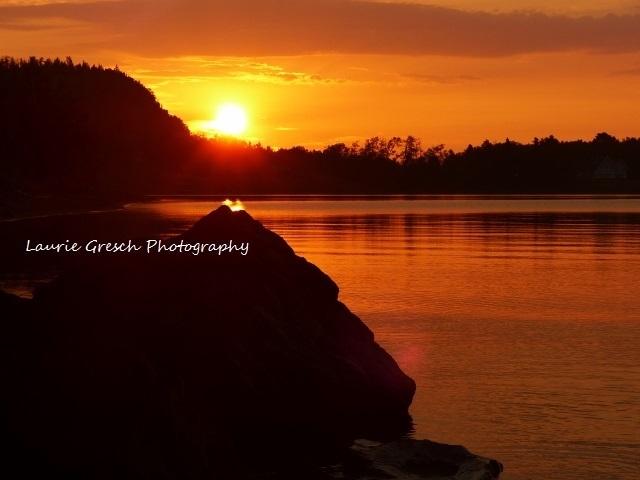 8x10 print, original photography, Sunrise on Lake Superior, nature print,