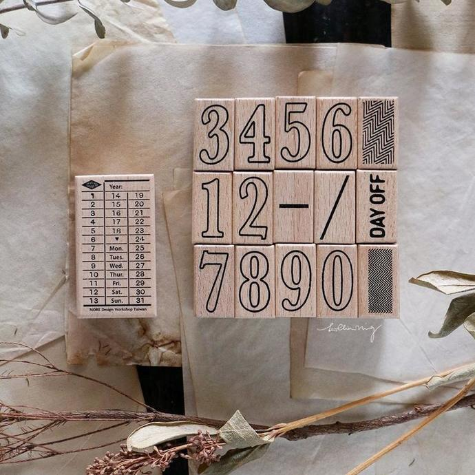 LCN Daily Ticket Rubber Stamps Set C - perfect for journaling & happy mail