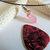 Rose Aura Crystal Quartz Point Choker, Silver Wire Wrap. Boho Jewelry