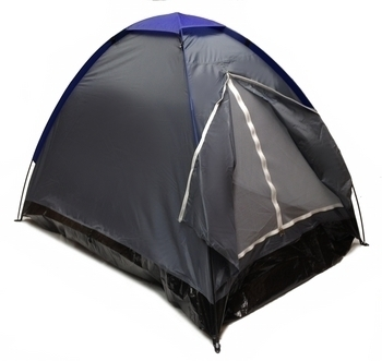 GRAY DOME CAMPING TENT 7x5' - 2 Person, Two Man GRAPHITE BLUE Sealed Bottom NEW