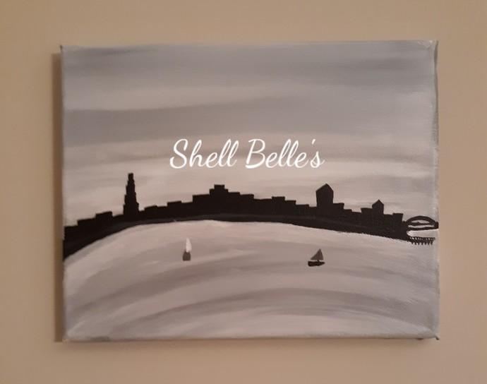 Cruising the Bay acrylic painting