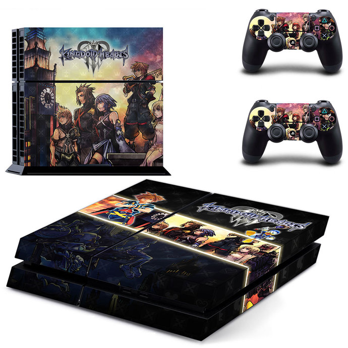 Kingdom Hearts PS4  Skin for PlayStation 4 Console & Controllers