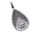 925 Sterling Silver White topaz Carved Leaf Pendant Jewelry