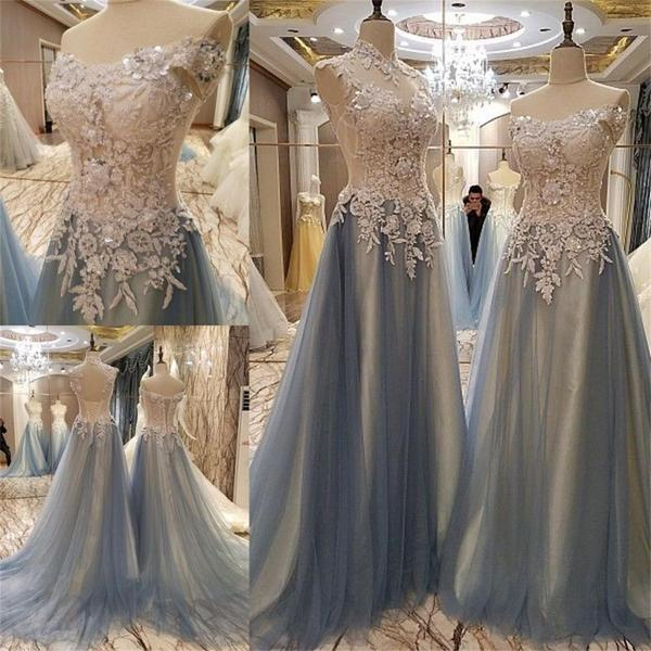 Tulle Off Shoulder Elegant Prom Dress Party Dresses