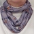 Infinity scarf, Short scarf, Blue Gray with roses fabric, Circle scarf, Gift for